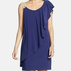 Betsy & Adam one shoulder dress